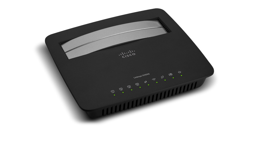 Linksys X3500 N750 Dual-Band Wireless Router with ADSL2+ Modem and USB