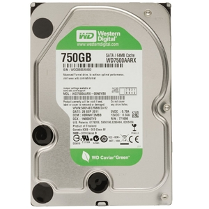 WD Caviar Green 750 GB SATA Hard Drives ( WD7500AARX)